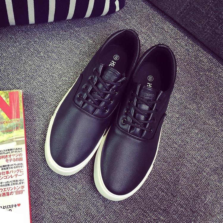 Весна Обувь мужская низкой вырезать Холст обувь мужчины корейской версии черный галстук мужская обувь Мужская PU кожаная обувь тенденция