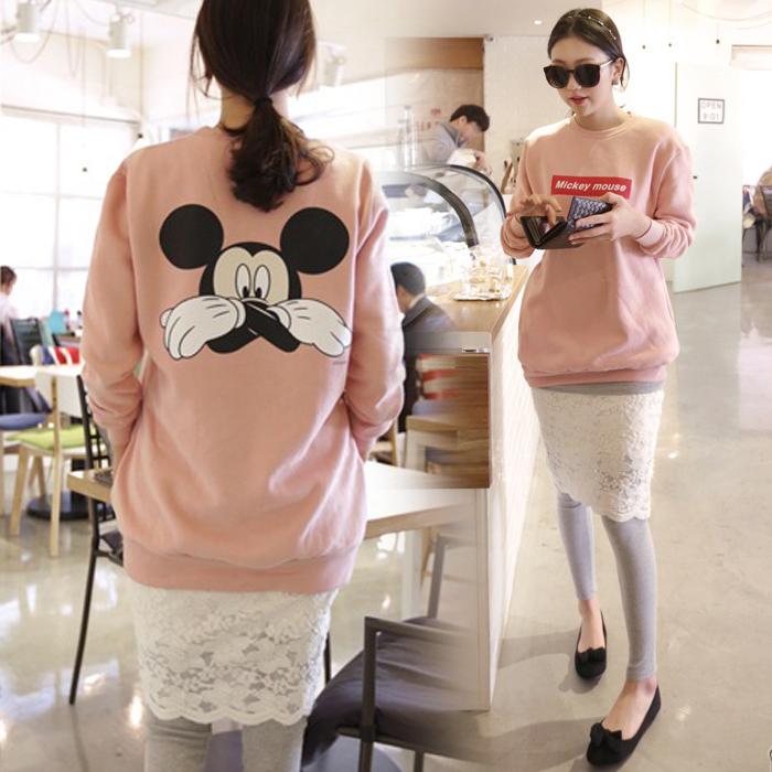 Корея осень/зима свитер женщин носить досуг loose длинные дна рубашки девушка мультфильм корейской версии и кашемировые пальто
