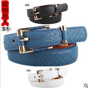Кожа дамы талии пояса женский Корейский моды Джокер пояса орнамент кожаный пояс женщин пакет почты