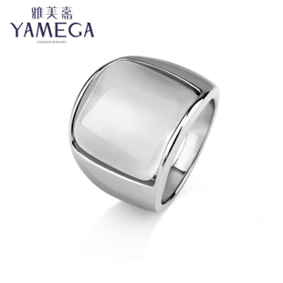 Masami Jiaou gourmet finger ring men and women fashion simple OL opal ring ring influx of people jewelry Decoration