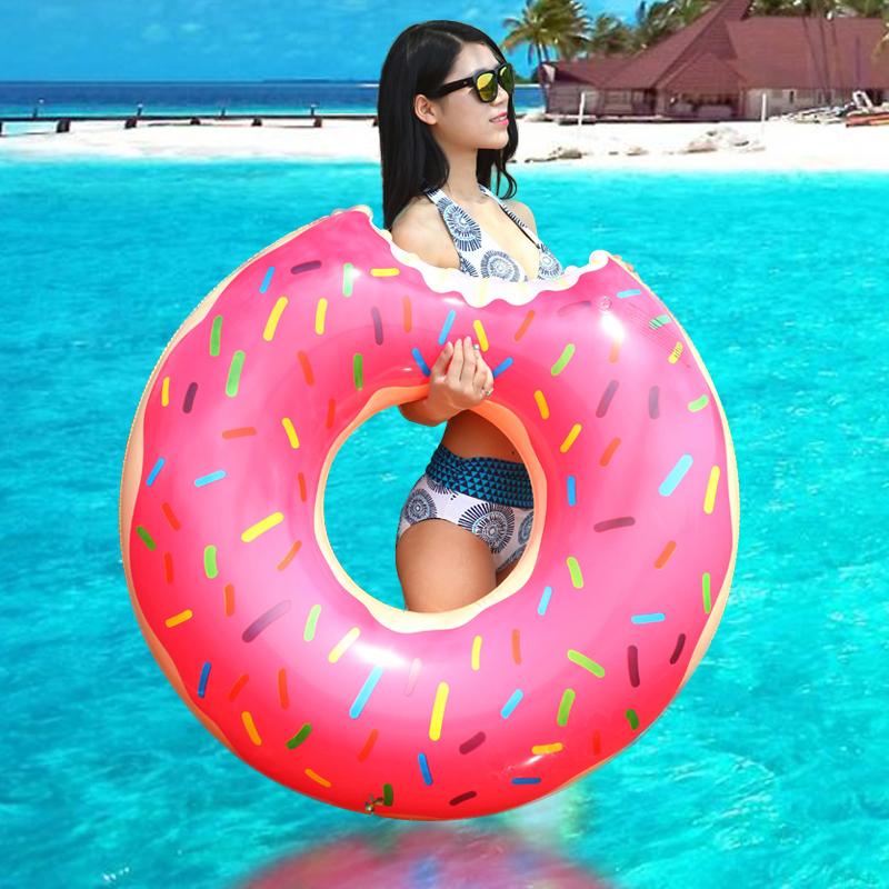 Бассейн кругов утолщение увеличилась плавание, надувной спасательный жир взрослого ребенка плавать мм милый пончики