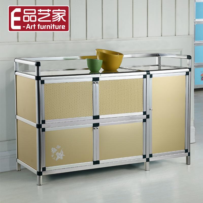 碗櫃廚房櫃灶台櫃子置物儲物收納櫃簡易櫥櫃餐邊櫃茶水櫃鋁合金櫃