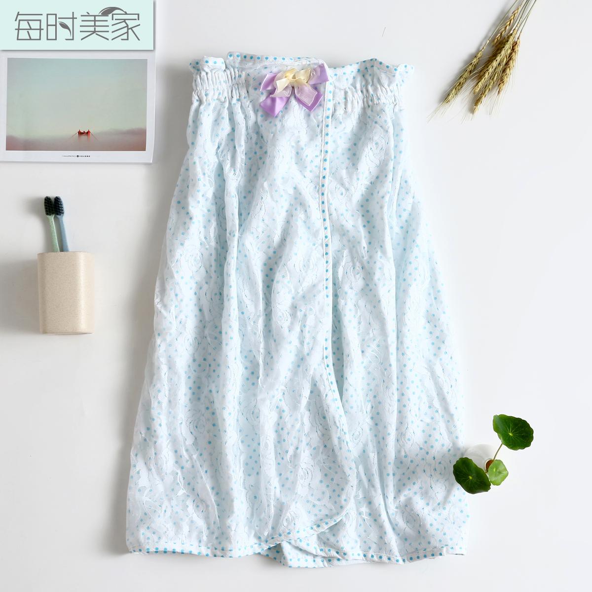 Корейский хлопок бюстгальтер ванна юбка тонкий летний купаться носить полотенце косметология больница халаты абсорбент завернутые груди ванна юбка