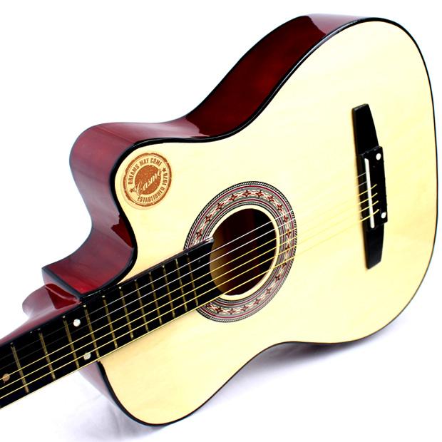 CASS подлинный 38 дюймов гитара Акустическая гитара Акустическая гитара новичок начать практикующих гитара инструменты полный набор аксессуаров