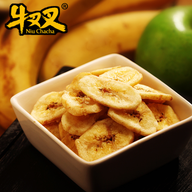 牛叉叉 香蕉片 香脆可口 来一份原味烤香蕉片 100克