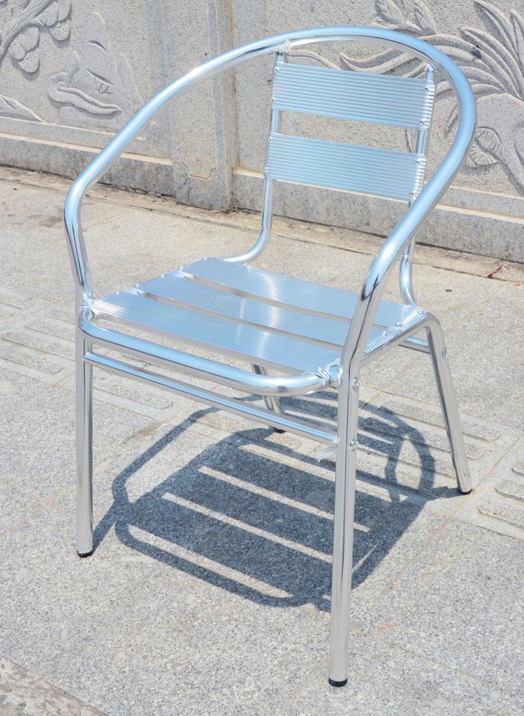 户外休闲椅子 铝合金椅子 洽谈椅 铝椅 餐椅 板椅 展会椅 阳台椅