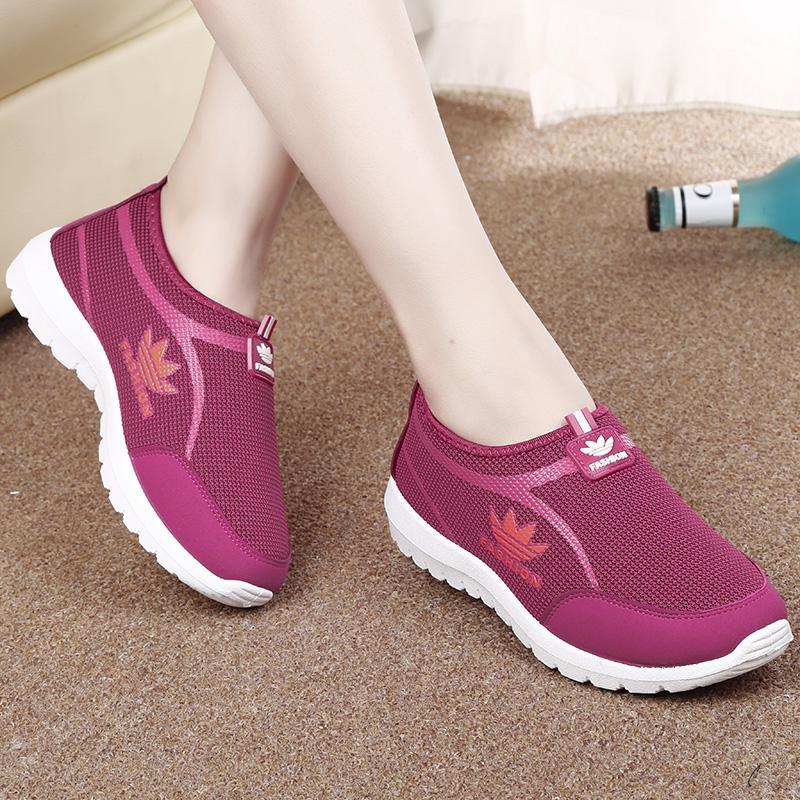 Салли Ши Лу, новый старый Пекин ткань 2015 обувь женская мода спорта низким вырезать женщин ленивый мама и обувь Обувь