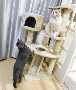 【愛咪購】貓爬架包郵天然劍麻貓跳臺貓抓柱貓樹玩具寵物用品貓窩