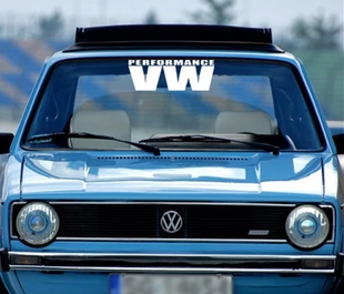 Cheap Volkswagen Jetta front windshield sticker 3M reflective imported MK2 converted VW Volkswagen VW windshield stickers