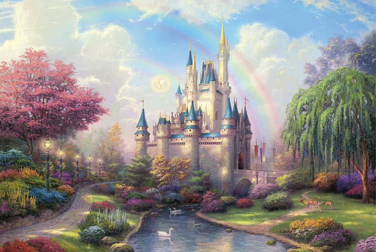 六一礼物夜光拼图1000片木质风景动漫儿童玩具梦幻城堡2020新款