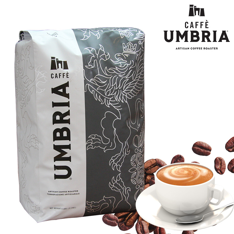 Caffe Umbria chambria coffee beans imported from the United States with original packaging of 2.3kg