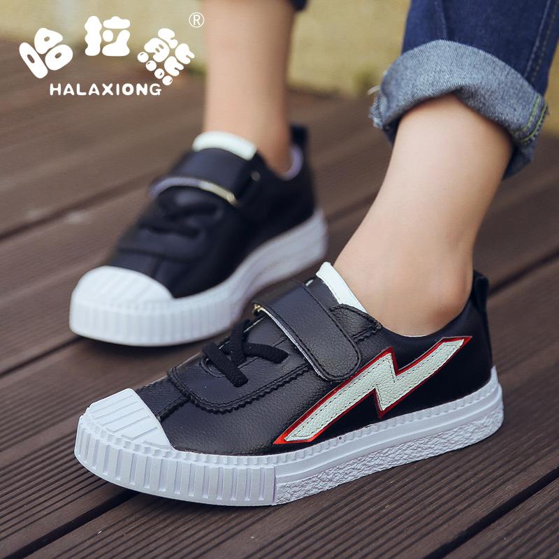 男童皮鞋真皮儿童休闲单鞋演出黑色皮鞋男大童表演韩版豆豆鞋童鞋