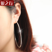 925 silver earrings authentic female exaggerated oversized ears ring South Korea fashion temperament han edition silver earrings allergy