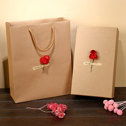 1℃ Kraft Paper Environment Saver Gift Bag Gift Box Give Away DIY Flower & Greeting Paper