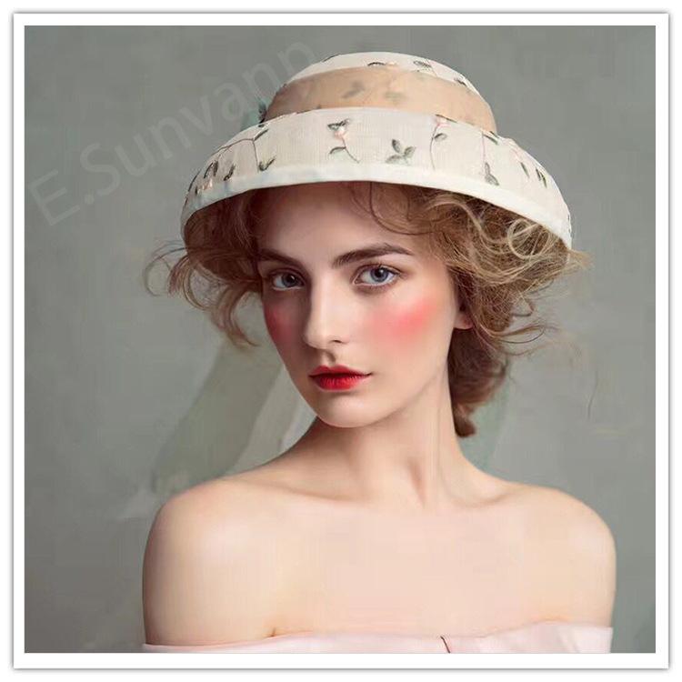 优尚梵品新品创意摄影拍片帽饰手工花帽新娘礼帽外景头饰定制