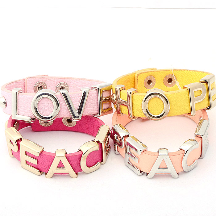 European and American style jewelry personalized versatile texture leather stone bracelet bracelet female adjustable size