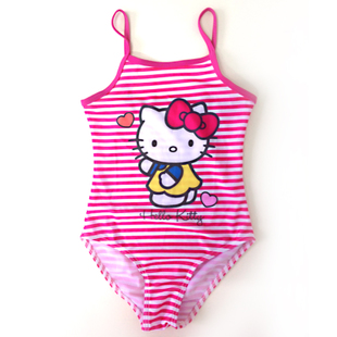 Authentic HELLO KITTY cute baby children swimsuit girls conjoined baby clothes hot springs Swimming
