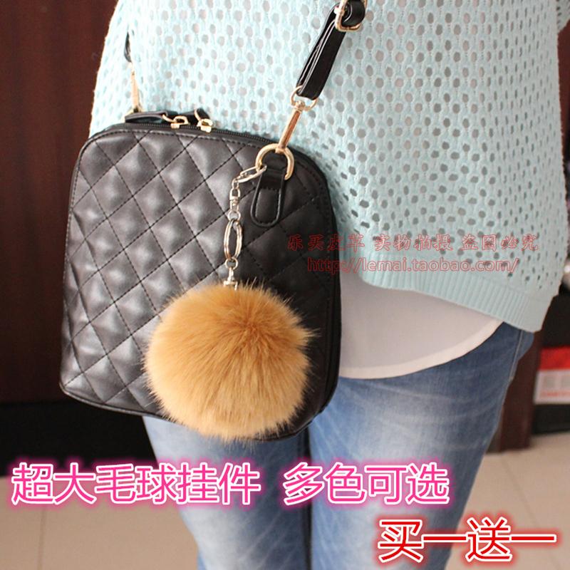 Аксессуары мешок Кулон прекрасный мобильный телефон Аксессуары мешок искусственного кролика меха Фокс меха мяч мяч ключевые цепи mail