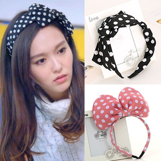 Know Connie hair Korea wide-bow headband KELA lover Yan Tang with rabbit ears hairpin jewelry
