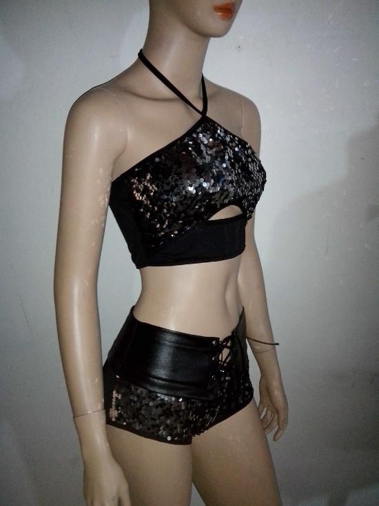2014夏季新款DS舞台装演出服女歌手服时尚亮片拼接表演服 套装,可领取元淘宝优惠券