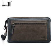 Danxilu/danxilu 2015 new handbag leather business casual men's leather clutch bag men long bi-fold wallet