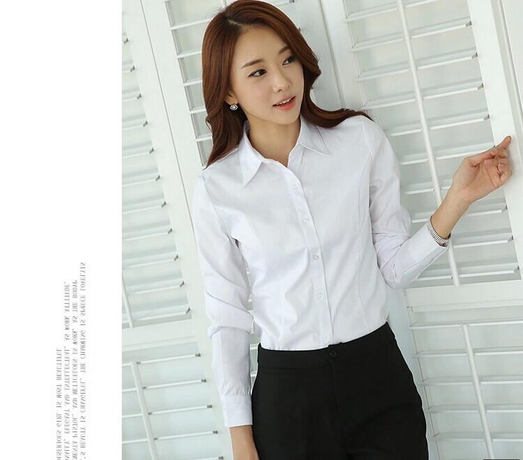 夏季韩版商务白短袖职业装女装衬衫长袖OL工作服女士正装工装衬衣
