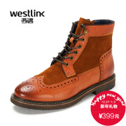 Westlink/2015 West winter boots buluokemading boots in new round brush off heads men's short boots
