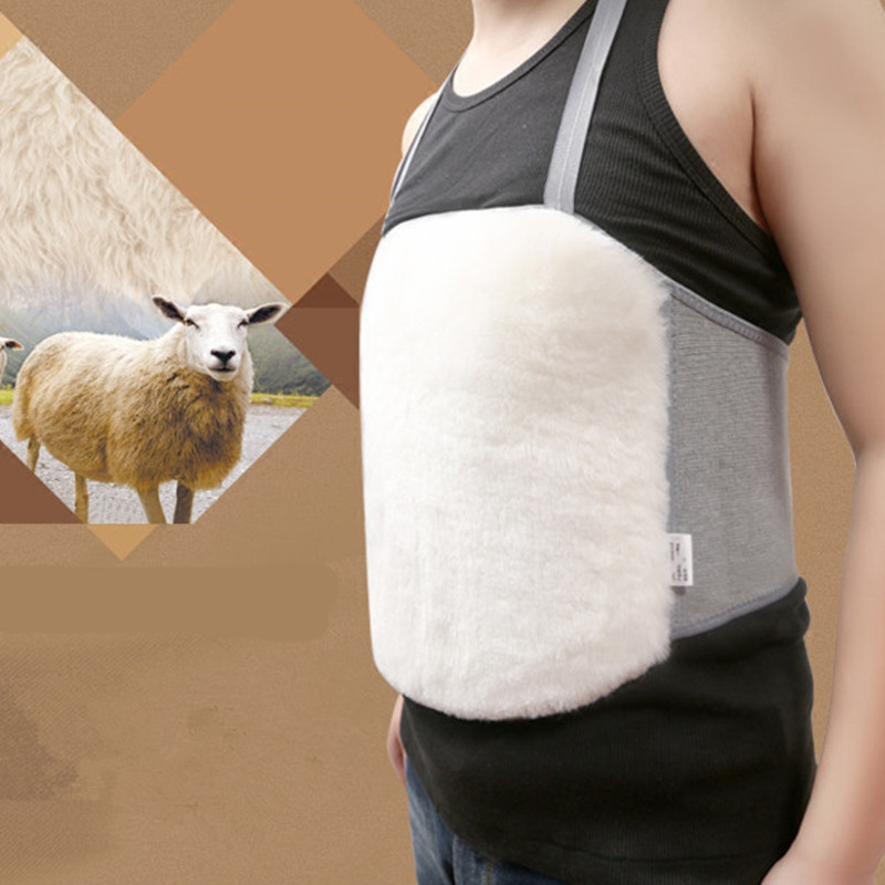 纯羊毛护胃皮毛一体羊绒护腰护肚护胸肚兜护腹带冬季加厚保暖男女