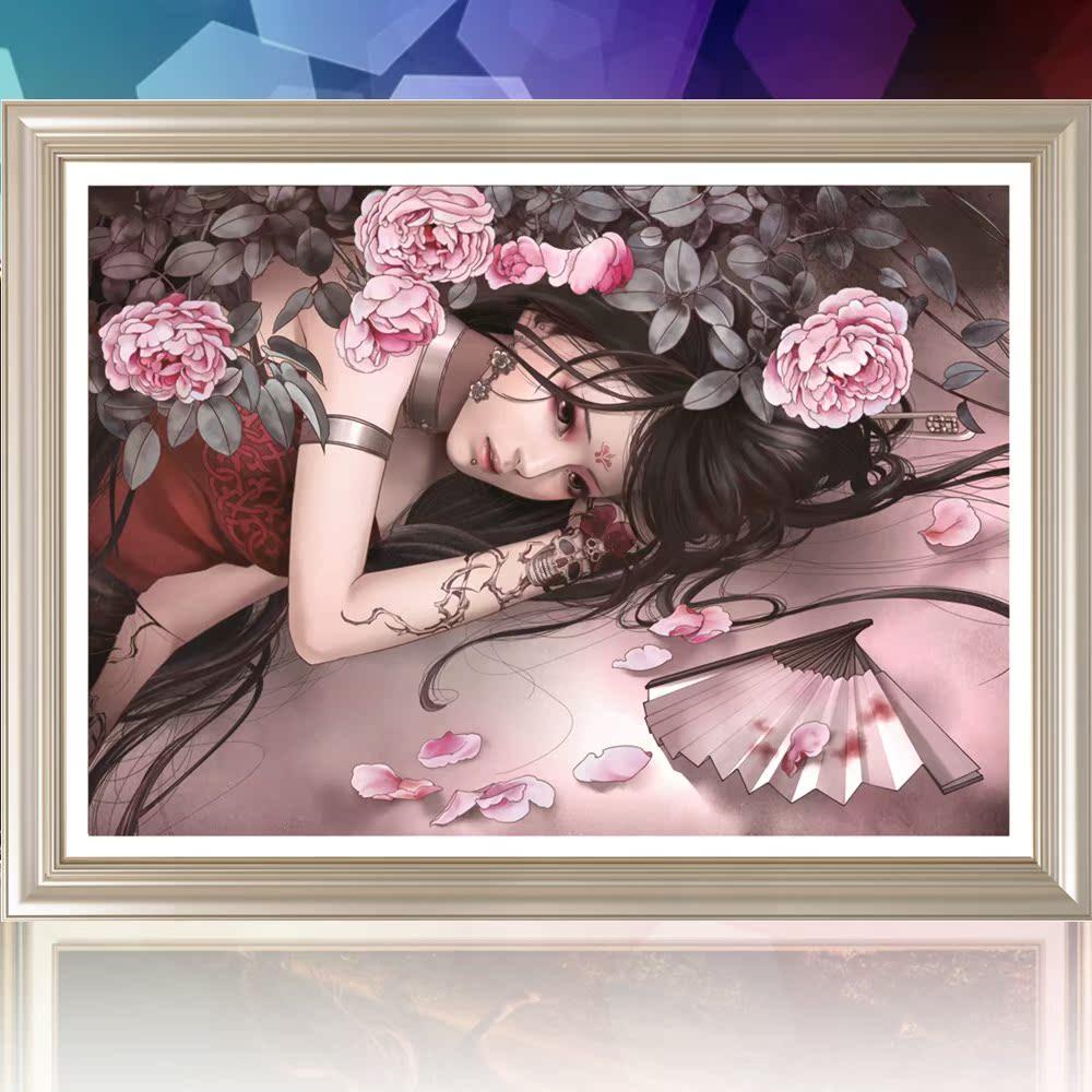 Новые 5DIY прохладно красивых Алмазный крест стежка магии радиус дрель мультфильм аниме девушки пост дрель окрашены спальня