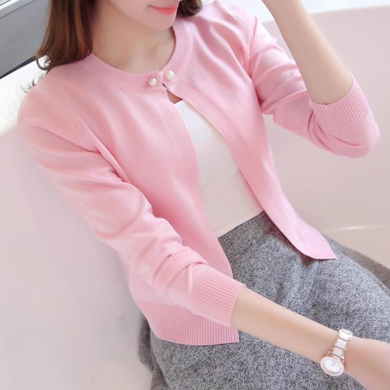2016春秋女裝 針織衫開衫短款防曬小披肩薄外套毛衣長袖空調衫