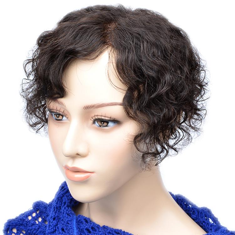满99元可用5元优惠券一片式头顶补发片女短卷发假发片