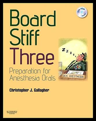 【预售】Board Stiff: Preparation for Anesthesia Orals: Ex