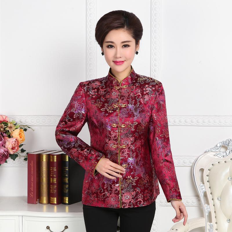 秋冬装新品女中式唐装棉衣中老年棉服女装外套女士棉袄妈妈装上衣