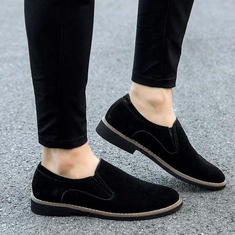 春の紳士用板靴と砂靴の韓国版反絨皮英倫風真皮カジュアル男性靴