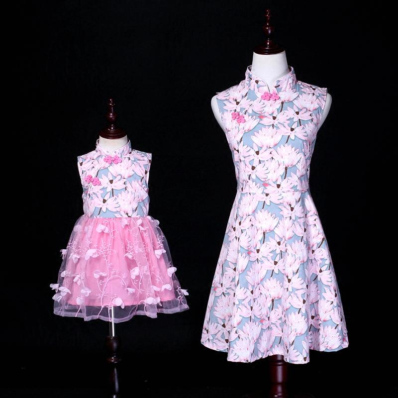 复古连衣裙母女装夏装旗袍裙公主裙热销12件假一赔十