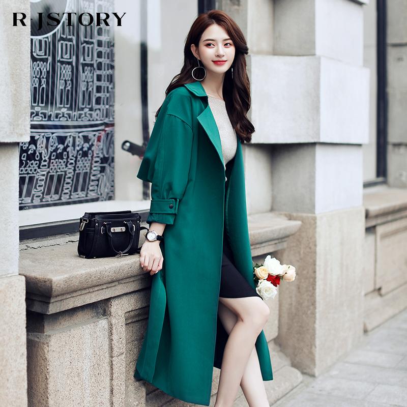Ветровка женщины длина корейский весенний и осенний сезон. 2017 новый англия пальто свободный порт ветер бедро chic пальто