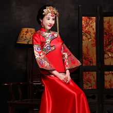 The new 2015 XiuHe take bridal gown wedding clothes big yards longfeng flown in the summer of traditional Chinese pregnant women took wedding toast