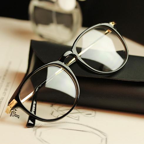e5b2e5bb42 Retro black-rimmed glasses frame myopia frame male tide female star ...