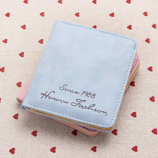 2015 new Korean version wallet retro frosted lady short thin Mini Wallet pocket change Wallet