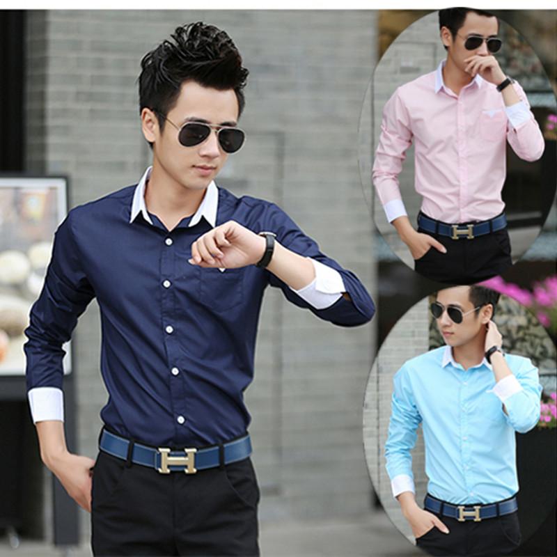 Лето 2014 Новый корейский дюймовый Мужские рубашки Мужское короткий рукав рубашки рубашки тонкий пальто мигает белая рубашка