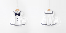 Children's wear the new summer academic 2015 han edition dolls unlined upper garment of the girls Female cotton navy wind dress