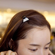 Know Connie hair accessories Korean Barrette hair accessory hair caught the Korean version of rhinestones on the gripper clamp small catch clamp