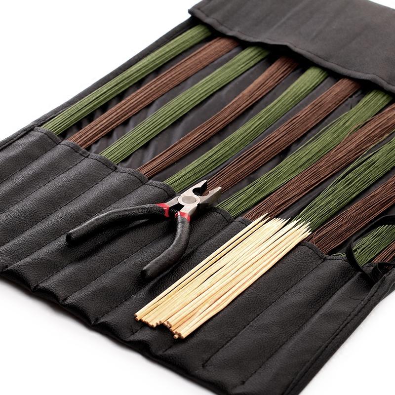 Небольшой оригинал струиться цветок дорога железный провод бамбук знак пакет цветочная композиция моделирование toolkit меч цветы искусство модельние toolkit сад искусство фиксированный