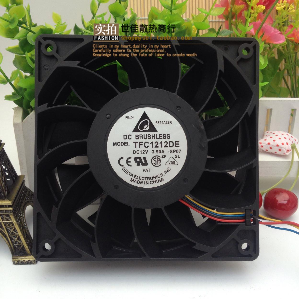 ДЕЛЬТА Дельта TFC1212DE 12038 12V 3.9A 12 см gale ветры насильственные охлаждающий вентилятор
