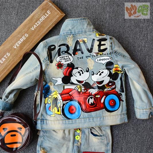 K455 Тайд ~ Корея бутик Детская одежда реальные джинсы куртки мальчиков Митч 2015 Весна куртка кардиган