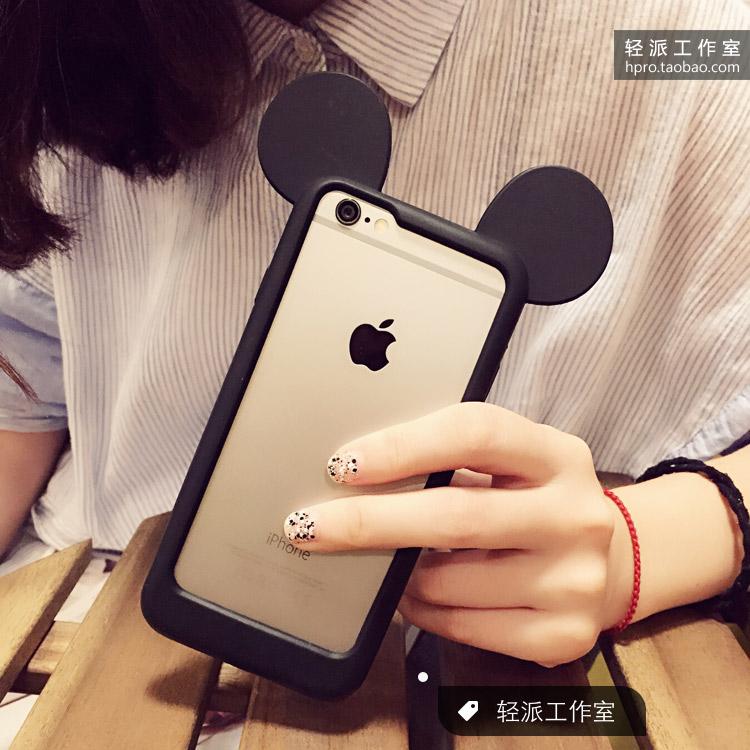 IPhone6s/6/плюс/5с/4S Микки мультфильм граница яблоко 4.7 силиконовый бум дело сотовый телефон