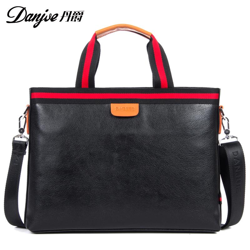 Danjue new head leather business handbag Korean casual leather horizontal mens single shoulder bag large capacity fashion