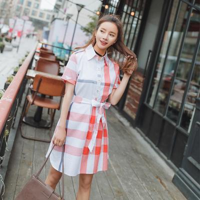 系带格子连衣裙 1727 P60