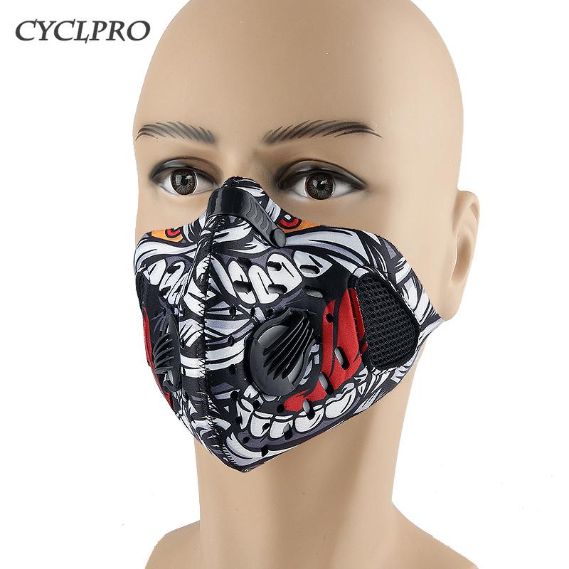 На открытом воздухе движение верховая езда маски велосипед активированного угля бег для предотвращения ветровой пыль противо PM2.5 туман дымка маска для лица мужской и женщины