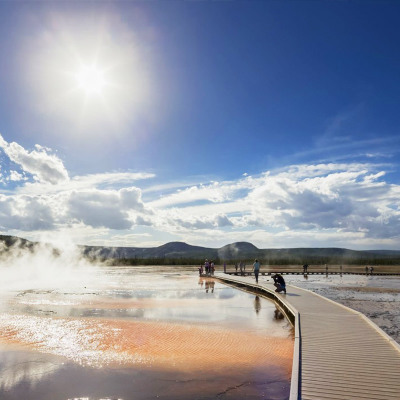 Us Salt Lake City tour starts at Yellowstone National Park for 8 days and 7 nights to tour presidents Grand Canyon of Boulder